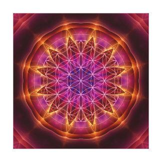 """flower of life"", ""sacred geometry"", mandala, cont canvas print"