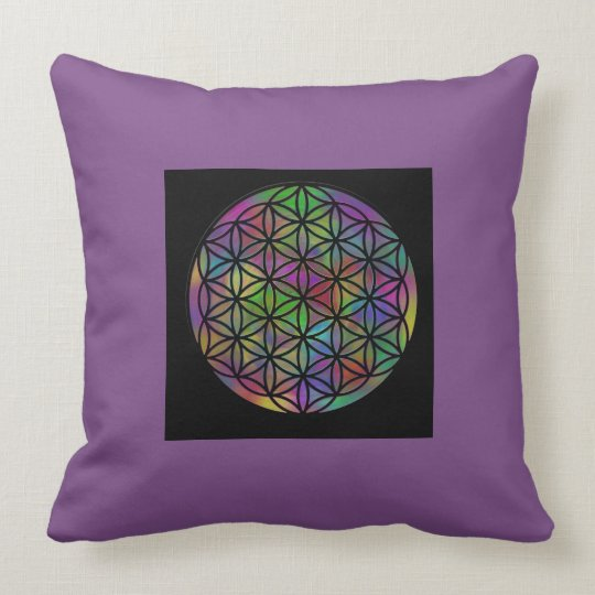 Flower Of Life Sacred Geometry Throw Pillow