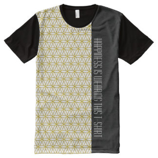 Flower of Life - seamless pattern - gold All-Over Print T-Shirt