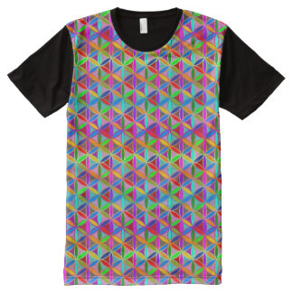 Flower of Life - seamless pattern - gradient color All-Over Print T-Shirt