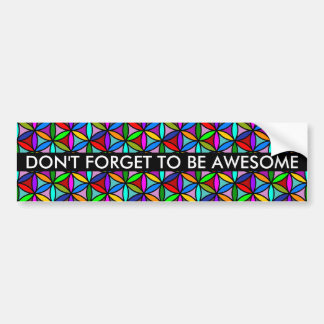 Flower of Life - seamless pattern - multi colored Bumper Sticker