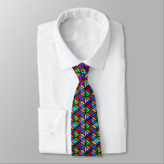 Flower of Life - seamless pattern - multi colored Tie