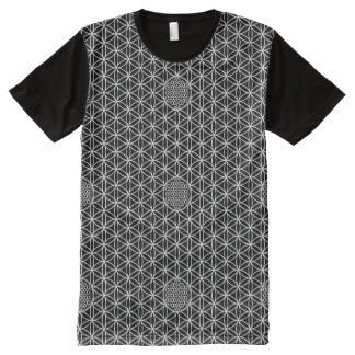 Flower of Life - seamless plain white + your back. All-Over Print T-Shirt