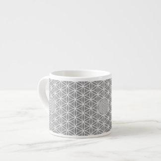 Flower of Life - seamless plain white + your backg Espresso Mug