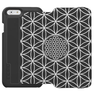 Flower of Life - seamless plain white + your backg Incipio Watson™ iPhone 6 Wallet Case