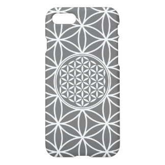 Flower of Life - seamless plain white + your backg iPhone 7 Case