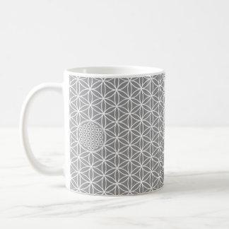 Flower of Life - seamless plain white + your backg Classic White Coffee Mug