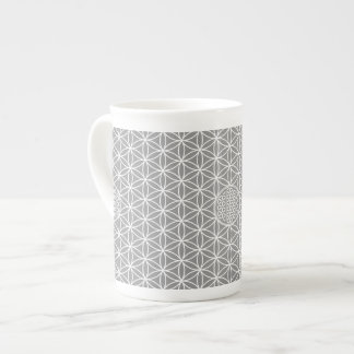 Flower of Life - seamless plain white + your backg Tea Cup