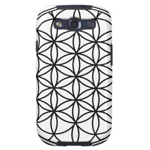 Flower of Life Simple Sacred Geometry Galaxy SIII Covers
