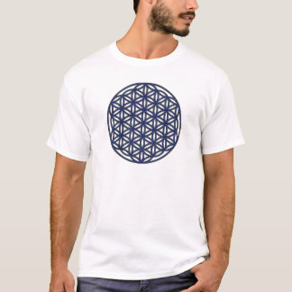 Flower of Life Single Indigo T-Shirt