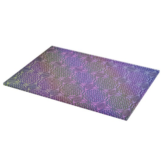 Flower of Life - stamp grunge pattern 3 Cutting Board