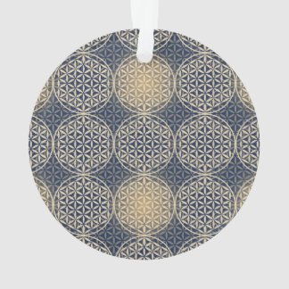 Flower of Life - stamp pattern - blue sand