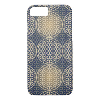 Flower of Life - stamp pattern - blue sand iPhone 8/7 Case