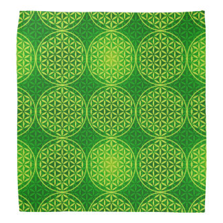Flower of Life - stamp pattern - green Bandana