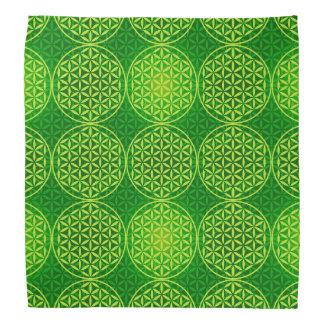 Flower of Life - stamp pattern - green Kerchiefs