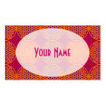 Flower of Life - stamp pattern - orange pink Pack Of Standard Business Cards