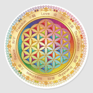Flower of Life Sticker - ORIGINAL Design by Lilyas