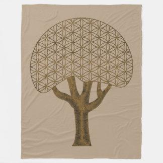 Flower of Life TREE of Life Fleece Blanket