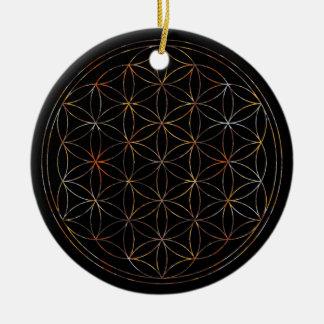 Flower Of Life (V-Elements) Round Ceramic Decoration