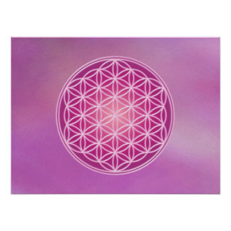Flower of Life - Violet Flame Posters
