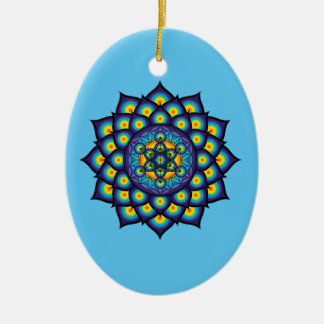 Flower of Life with Metatron's Cube Christmas Ornament