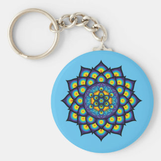 Flower of Life with Metatron's Cube Key Ring