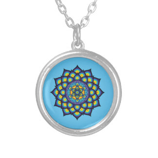 Flower of Life with Metatron's Cube Silver Plated Necklace