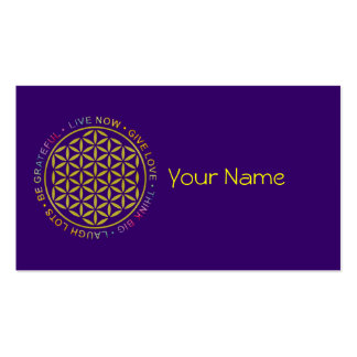 Flower Of Life with Rules Of Life Pack Of Standard Business Cards