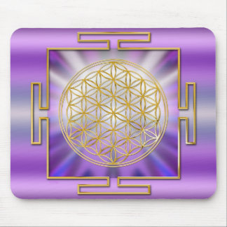 Flower OF Life Yantra Mouse Pad