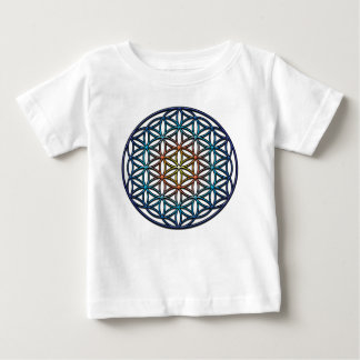 Flower of Life (yellow orange blue gradient) Baby T-Shirt