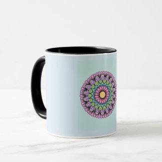 Flower of Light blue 11 oz Combo Mug