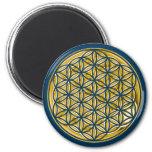 Flower Of Live / full gold 6 Cm Round Magnet