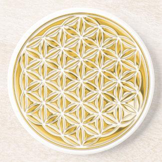Flower Of Live / full gold Coaster