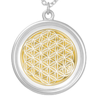 Flower Of Live / full gold Silver Plated Necklace