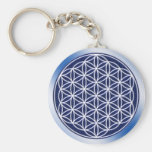 Flower Of Live / heaven Basic Round Button Key Ring