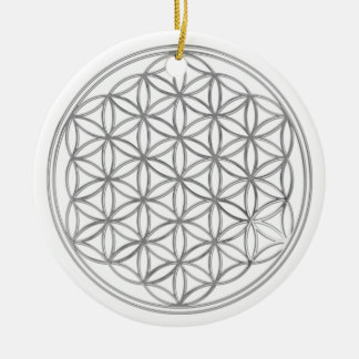 Flower Of Live / silver Christmas Ornament
