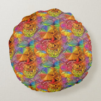 Flower of Lives Round Cushion
