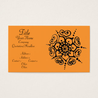 Flower Of Love (Henna) Business Card