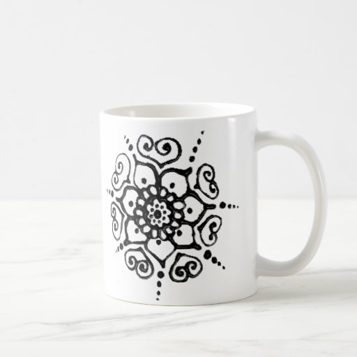 Flower Of Love (Henna) Coffee Mugs