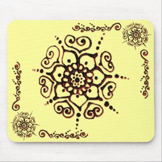 Flower Of Love (Henna) (Orange) Mouse Mat