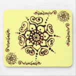 Flower Of Love (Henna) (Orange) Mousemats