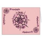Flower Of Love (Henna) (Pink) Card