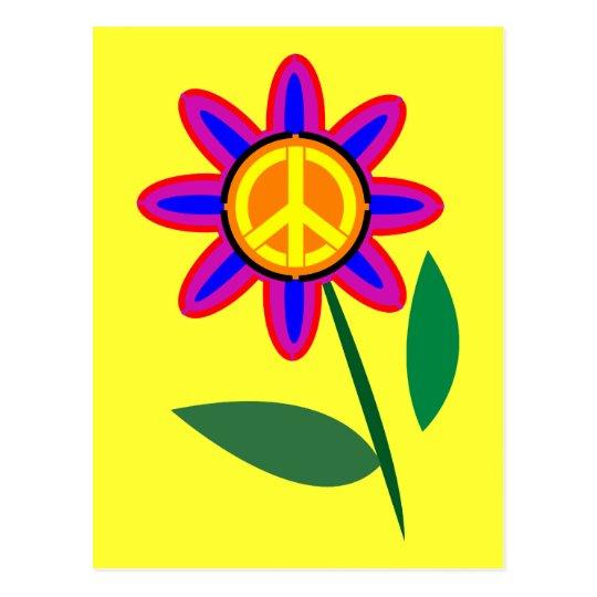 Flower of Peace - Peace Sign Pop Art