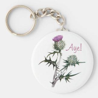 Flower of Scotland Scottish Independence Keyring Basic Round Button Key Ring