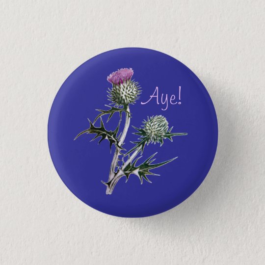 Flower of Scotland Scottish Independence Pinback 3 Cm