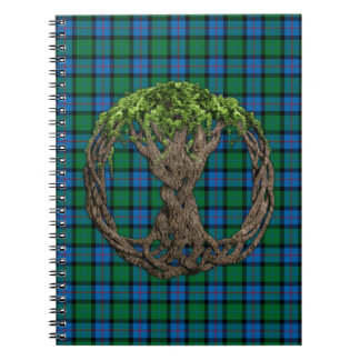 Flower Of Scotland Tartan Celtic Tree Of Life Notebooks