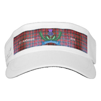 `Flower of Scotland' Tartan Visor