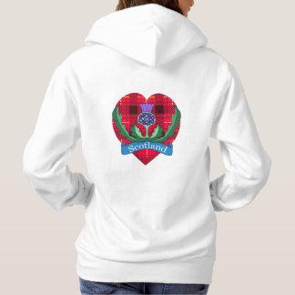 `Flower of Scotland' Women's Hooded Sweater