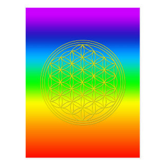 Flower of the life chakra 2 postcard