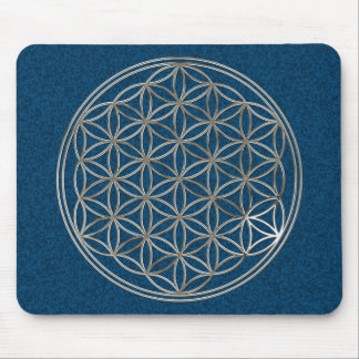 Flower of the life/Flower OF Life | more silver bl Mouse Pad